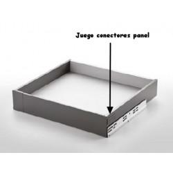 JGO. CONECTORES FRONTAL SLIM 90 BLANCO MATE