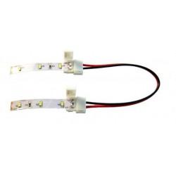 CONECTOR DOBLE C/CABLE PARA TIRA DE LED 8 M/M